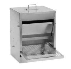 Pluimvee voerbak mechanisch metaal 5 kg