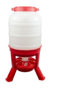 Pluimvee voertoren 20 liter rood
