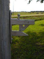 Valsluiting met slotlip voor landhek