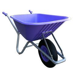 FORT bouw en tuin kruiwagen 100 liter, PAARS