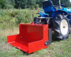 Kiepbare transportbak voor minitrekkers 1 meter