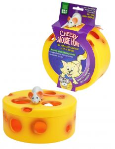 VisionSmart Cheesy Mouse Hunt Cat Toy