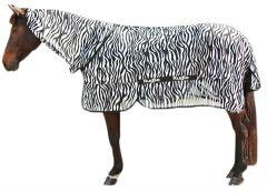Vliegdeken Zebra incl. nekdeel 185cm