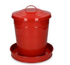 Pluimvee voertoren metaal rood
