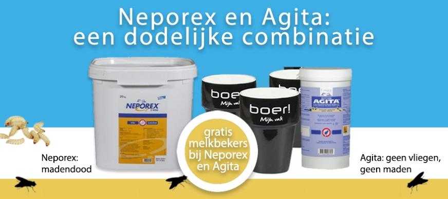 Vliegenbestrijding en madenbestrijding met Neporex en Agita
