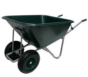 Volumekruiwagen 250 liter dubbel wiel