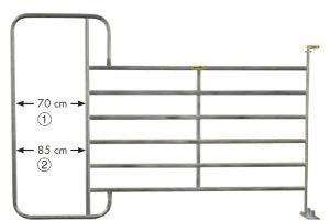 Paneelhek met frame, 3,05 x 2,10 mtr.