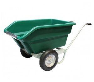 Tweewielige kantelbare kruiwagen 255 ltr. GROEN