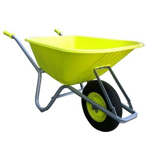 FORT bouw en tuin kruiwagen 100 liter, GEEL