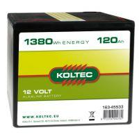 Batterij 12 Volt - 1380 Wh 120 Ah, alkaline