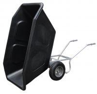 Volume kantelkruiwagen 500 liter dubbel wiel