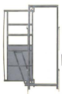 Frame met schuifdeuren, 0,90 x 2,05 mtr
