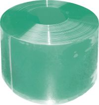 PVC-lammelen Compact 300 x 3 m, groen transparant, 50 m rol