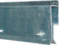 Klemprofiel, frontmontage 1,15 mvoor lamellengordijn, deurbreedte 1 m