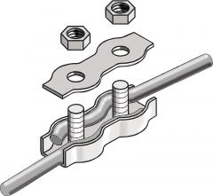 Koordverbinders RVS, tot 6mm (3 st)