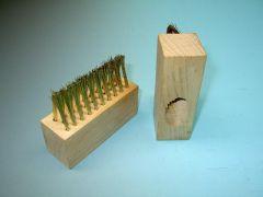 Voegenborstel 3 rijen (messing) staaldraad