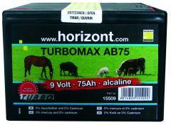 Batterij 9V TURBOMAX AB75