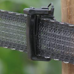 Zwart schriklint Koltec, 4 cm breed, extra versterkt, 200 mtr