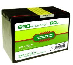 Batterij 12 Volt - 690 Wh 60 Ah, alkaline