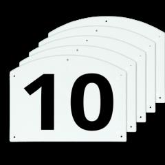 Show Jump cijfers 10 t/m 15 27x20cm