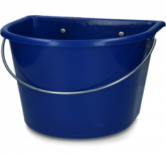 Voerbak 15 l + ophang + hengsel donkerblauw