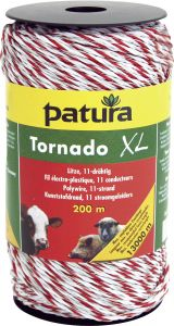 Tornado XL kunststofdraad wit/rood 1000m