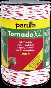 Tornado XL schrikkoord wit/rood, 500 mtr