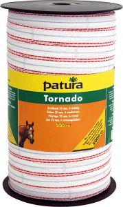 Tornado lint 20 mm wit/oranje 400 meter rol