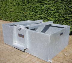 Gegalvaniseerde waterbak 825 liter, stalen weidedrinkbak