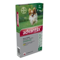 Advantix 40/200 Spot-on < 4 kg 4 pipetten