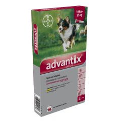 Advantix 250/1250 Spot-on 10-25 kg 4 pipetten