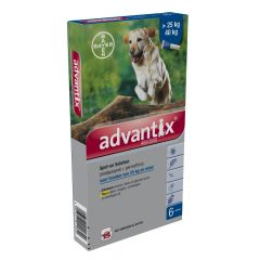 Advantix 400/2000 Spot-on > 25kg 6 pipetten
