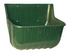 Voerbak kunststof breed, groen 15L