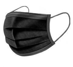 Zwart mondkapje mondneusmasker, 3-laags, 50 stuks. Niet medisch