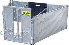 Adoptiebox voor lammeren starterset met 2 zijdelen verzinkt, voor schapen