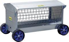 Hooiruif met wielen, L=1,25 mmet dak, voor lammeren en schapen