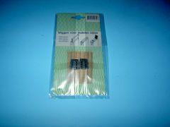 Wig 2 x metaal 16mm nr.2 en 1x hout klein