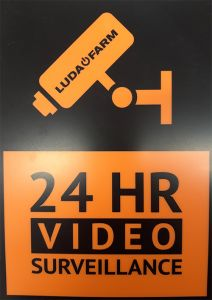 Waarschuwingsbordje tbv Luda FarmCam HD