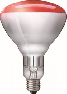 Warmtelamp 150W rood Philips