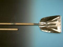 Graanschop Offner aluminium met strip en Atlas knopsteel 130cm