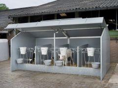 Calfotel verplaatsbare kalverhokken eenlingunit