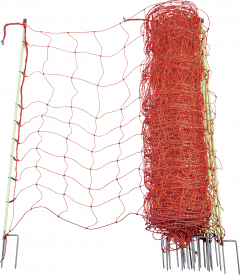 Wolvennet 120 cm hoog, dubbele punt, 50 meter