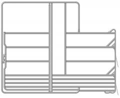 Paarden veiligheidspaneel met poort en voerplaats 3.60 mtr x 2.40 mtr