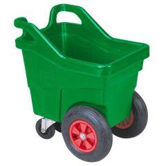 Voerwagen groen, vierwielig 140 ltr