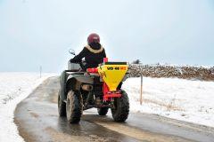 Elektrische zoutstrooier voor tractor, quad of auto, 40 ltr