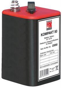 Blokbatterij 4R25 6V  50Ah