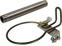 Verwarmingsset voor staalpaal met mod. 25 R 3/4, 24 V / 80 W