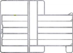 Paneelhek met poort en voerhek 2,20 x 2,40 mtr.