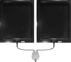 Vaste Dubbel- Antenne DAF206 metverbindingsbox