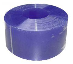 PVC-lamellen, 300 x 3 mm,blauw transparant, 50 m rol